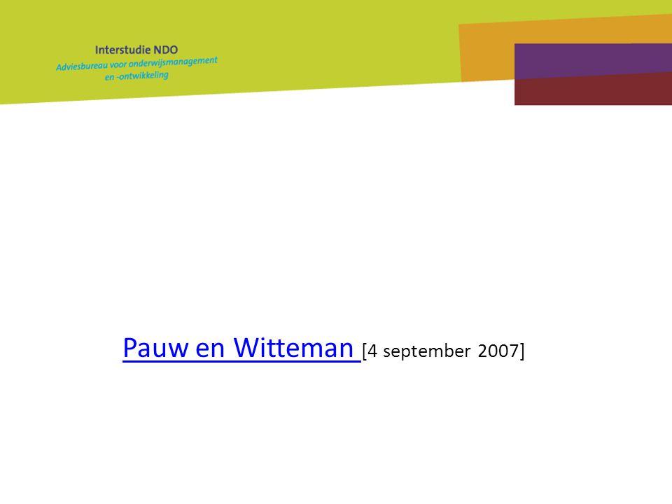 Pauw en Witteman [4 september 2007]
